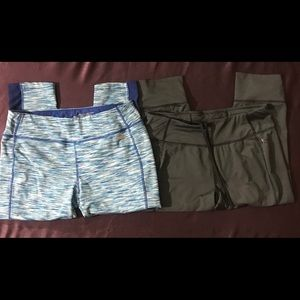 Two pair of workout pants size medium